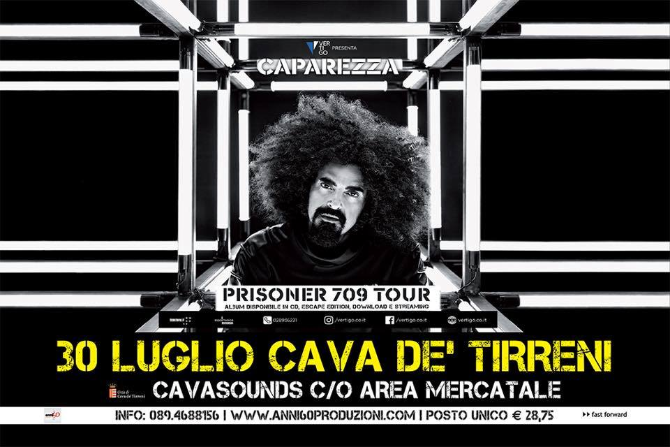 "CAPAREZZA CON IL ""PRISONER 709 TOUR"" A ""CAVASOUNDS"""