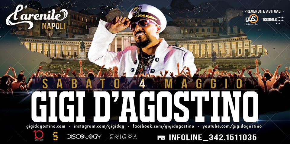 GIGI D'agostino live a Napoli at Arenile