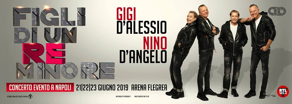 Gigi D'Alessio e Nino D'Angelo in concerto all'Arena Flegrea