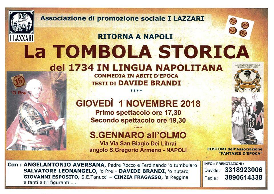 Tombola Storica del 1734 in lingua napoletana ed in abiti d'epoca