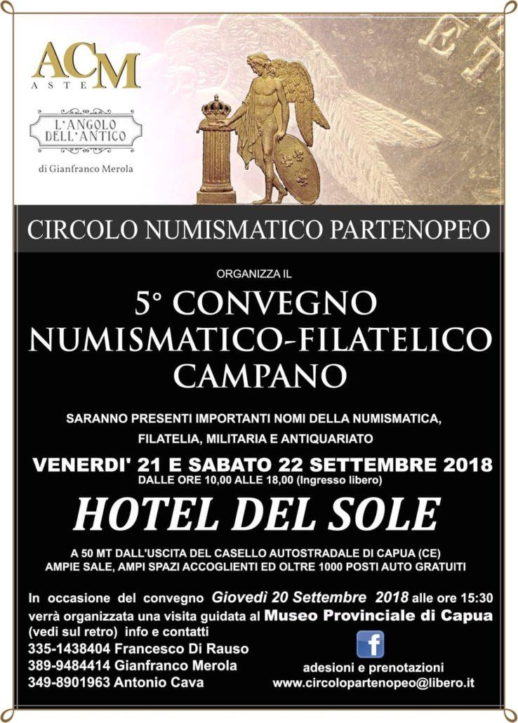 Locandina V Convegno Numsimatico Filatelico Campano