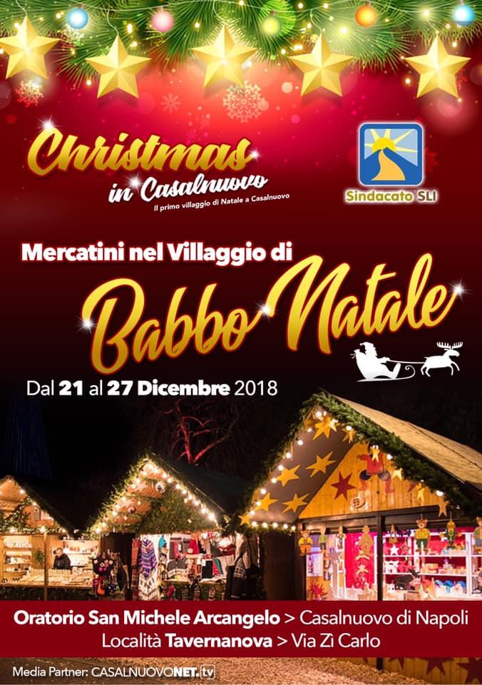 Mercatini nel villaggio di Babbo Natale a Casalnuovo