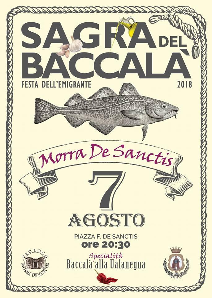 """""""Sagra del Baccalà"""" a Morra De Sanctis"""